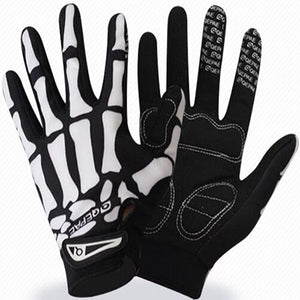 Qepae MTB Road Long Finger Outdoor Bicycle Breathable Sports Skull Cycling Gloves Half Finger Outdoor Bike Black Summer XL-Glove-Come4Buy eShop