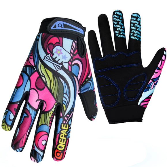 Qepae Shockproof Cycling Gloves Full Finger Gloves Fitness Men Women Skid Bike Outdoor Sports Warm Gloves Color Screen-Glove-Come4Buy eShop
