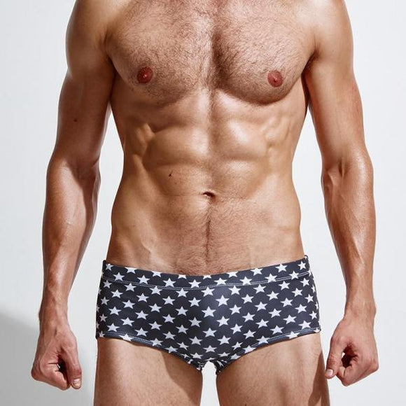 Men's Swimming Briefs sexy low rise Swim Trunks dots printed Swimwear-Men Clothing-Come4Buy eShop