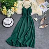Beach Party Maxi Dress Sexy Spaghetti Strap Long Dress Women Elegant Backless Dresses-Women Clothing-Come4Buy eShop