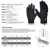 Cycling Gloves Men Guantes Termic Touch Screen Anti Skid Tenue Motocross Bicycle Gloves with Longer Fingers Road Hiking Gloves-Glove-Come4Buy eShop