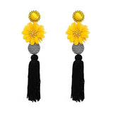 Ethnic Bohemi Tassel Drop Dangle Statement Earrings for Women Antique flower Fringing earrings-EARRINGS-Come4Buy eShop