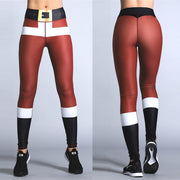 Leggings de Navidad Mujer Cintura alta Sexy Poliéster Impresión digital Delgado Moda Casual Regalos de Navidad Leggings S-XL-Leggings-Come4Buy eShop