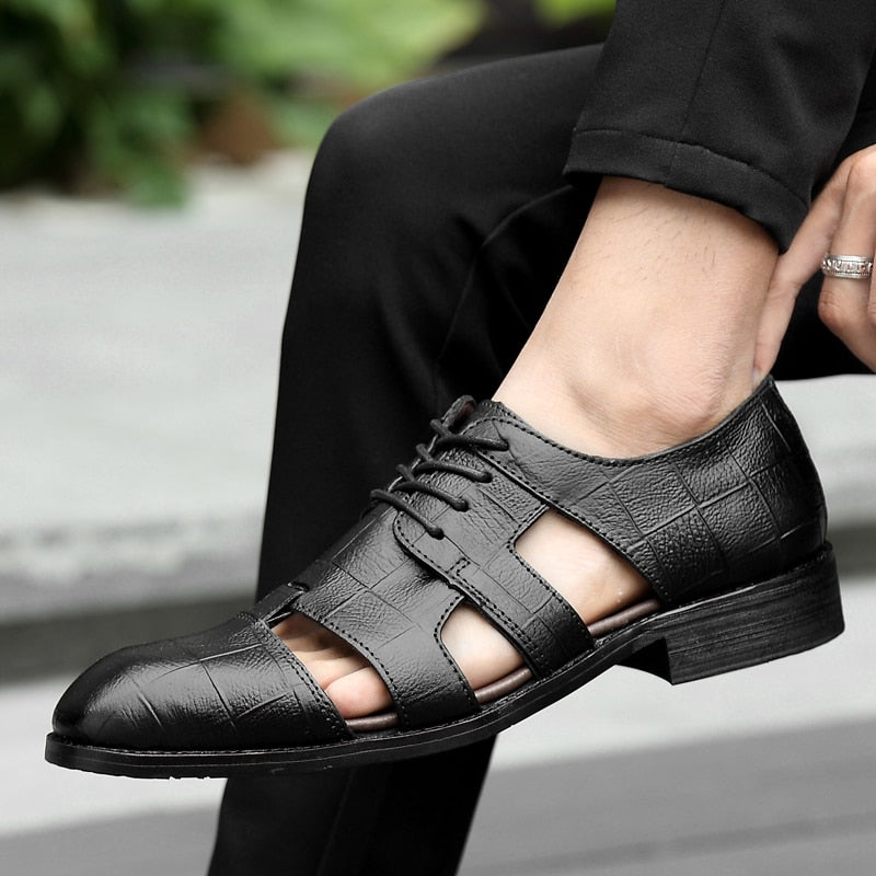 Mens Dress Formal Business Shoes Pointy Toe Work Office Hollow out Breathable L