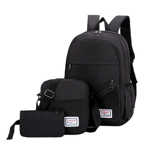 Litthing New 3 Pc/set Anti Theft Backpack Men Women Casual Backpack Travel Laptop Backpack School Bags Sac A Dos Homme Zaino