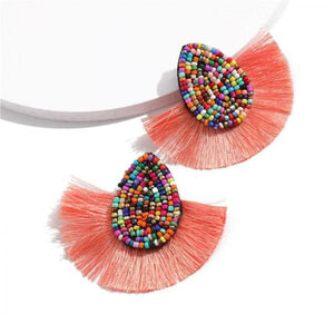 Tassel Earrings For Women Statement Bohemian Wedding Brincos Red Beads Water Yellow Drop Earrings Tassels Earings Female-EARRINGS-Come4Buy eShop