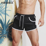 Solid With Pockets Swimwear Mens Board Shorts Summer Swimming Trunks For Bathing Sexy Man Swimsuit Short Swimwear Men Pouch-[product_type]-Come4Buy eShop