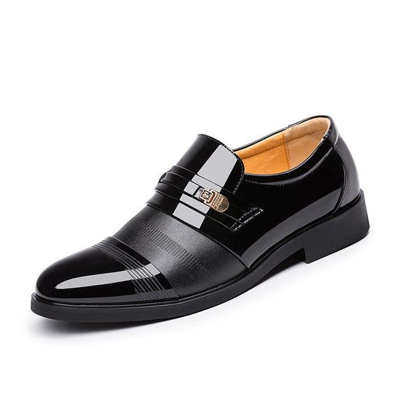 Height increasing Men Leather Dress Shoes Microfiber Leather Quality Shoes For Business 37-46-Men Shoes-Come4Buy eShop