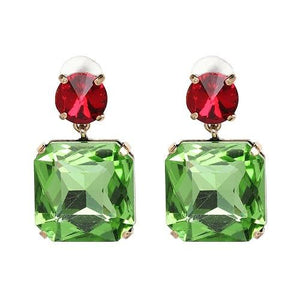 11 colors jewelry vintage simple crystal statement fashion square crystal Drop Earrings for women-EARRINGS-Come4Buy eShop