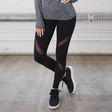 Mesh Patchwork Leggings Women Polyester Black High Waist Ankle-Length Sexy Workout Trousers Legging Female Fitness-Leggings-Come4Buy eShop