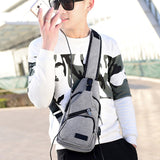 USB jack Crossbody Bags Messenger Chest Bag Pack Waterproof Nylon Single Shoulder Strap Pack Unisex  mochila peque a hombre