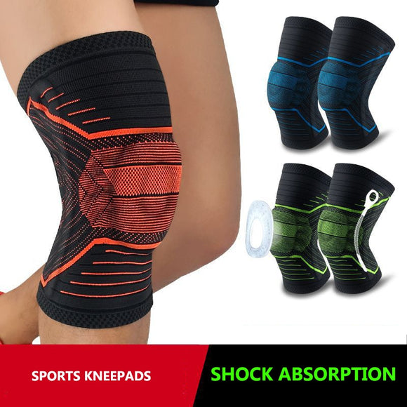 Knee Supports Brace Silicone Pads Spring Support Relieve Arthritis Kneepads Basketball Volleyball Knee Protector Gym Fitness-[product_type]-Come4Buy eShop