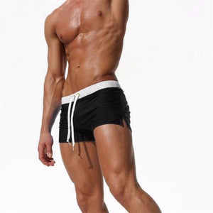 Back Pocket Mens Swimwears Sexy Swimming Trunk For Bathing  Man Swimsuits Gay Surf Brief Solid Boxer Swim Short-[product_type]-Come4Buy eShop