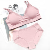 Cotton Lingerie Wireless Bras sets