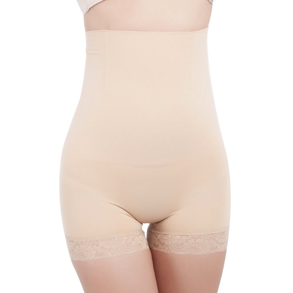 Women High Waist Lace Stitching Shaping Panties Breathable Body Shaper Slimming Tummy Underwear Panty Shapers-Shapewear-Come4Buy eShop