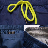 Men's Swimming Trunks Sexy Solid Elastic Drawstring Swimwear Men Bathing Suit Gay Swim Shorts Liner Mens Navy Lined Gym-[product_type]-Come4Buy eShop