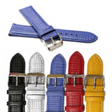 22mm All Geunine Leather Watch Band Straps Black White Brown Blue Orange Padded Embosse Watch Band Alexis WB1233 Soft