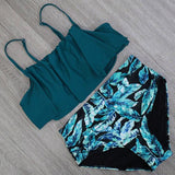 Bikinis Women Swimwear High Waist Swimsuit Halter Sexy Bikini Set Retro Bathing Suits Plus Size Swimwear XXL-Women Clothing-Come4Buy eShop