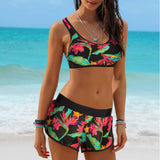 Swimwear Sexy Swimsuit Women Plus Size Tankini Sets Swim Vintage Beach Wear Bathing Suits Female Bandage Swim Suit Trunks-[product_type]-Come4Buy eShop