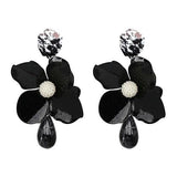 Fashion women big flower design statement floral earrings for women jewelry flower earring-EARRINGS-Come4Buy eShop