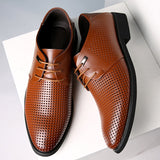 Summer Autumn Hollow Dress Shoes Men Soft Split Leather Pointy Male Derby Oxford Business Formal-Men Shoes-Come4Buy eShop