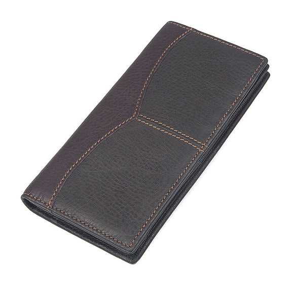 Men's Long Coin Bag Purse Genuine Leather Business Daily Cluthes Wallet Men Cell Phone Pouch Cardholder Card Case