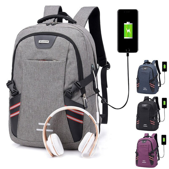 Litthing Laptop Backpack Male Multifunction For Teenager Fashion Travel Shoulder Bag USB Charging Men Business Notebook Backpack