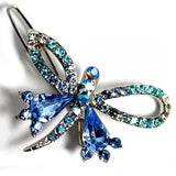 Dragonfly Pattern Aquamarine Light Sapphire Hairpin Head Jewelry Barrette HD15B-HAIR ACCESSORIES-Come4Buy eShop