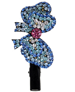 Sapphire Aquamarine Rose Hairpin Head Jewelry Barrette HD14A-HAIR ACCESSORIES-Come4Buy eShop