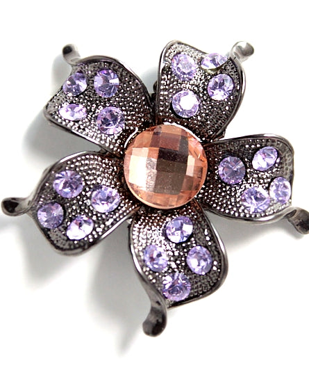 Violet Light Peach Flower Pattern Hair Clip hairpin Head Jewelry Barrette HD16A-HAIR ACCESSORIES-Come4Buy eShop