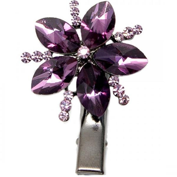 Amethyst Hairpin Hair Clip Head flower Crystal Pattern Jewelry Barrette HD18A-HAIR ACCESSORIES-Come4Buy eShop