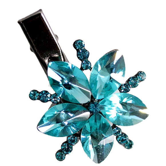 Elegant Twinkle Blue Zircon Hairpin Head Jewelry Barrette HD18B-HAIR ACCESSORIES-Come4Buy eShop