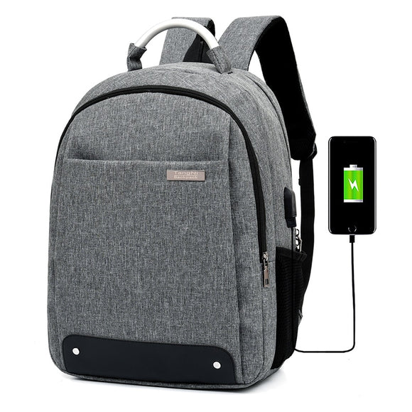 Litthing Fashion Laptop Backpack Usb Charging Computer Backpacks Casual Style Bags Large Male Business Travel Bag Backpack