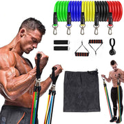 11 Pcs Elastic Resistance Bands Sets Workout Rubber Elast Band