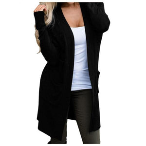 Jacket Women Warm Coat Female Womens Long Jackets Autumn Solid Ladies Coat Outwear Cardigan Women Jackets Outerwear-Women Jacket-Come4Buy eShop