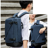 Men's Business Office Laptop Backpack Waterproof Oxford Fabric Fashion New Backpack Multifunction Travel Shoulder Bag