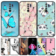 For Redmi 9 Redmi9 Case Ultra-thin Soft TPU Silicone Floral Patterned Phone Case