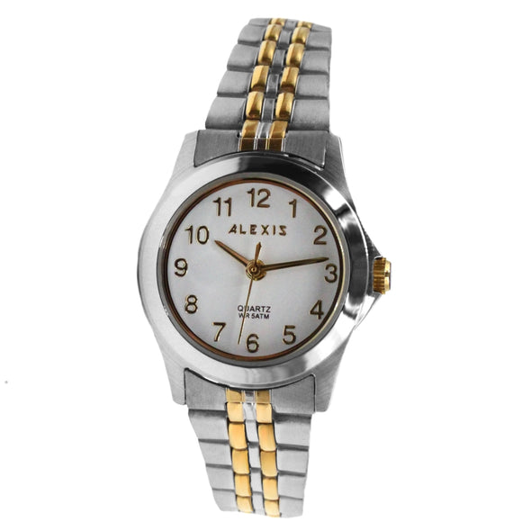 SSW520B White Dial Ladies ALEXIS 2035 QUARTZ All Stainless Stainless Steel Watch-WATCHES-Come4Buy eShop