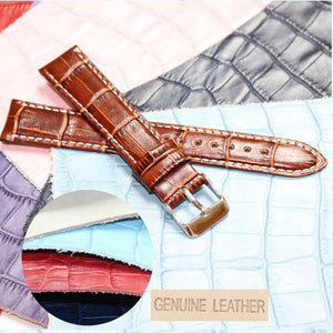 18mm Good Quailty Black All Leather Unisex Watch Band Straps WB1036-18GB Genuine Cow Leather Brown Tan Padded Wrist Watches Band