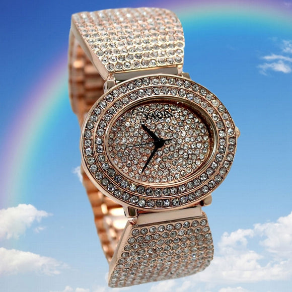 Rose Gold Crystal Watch FW869A