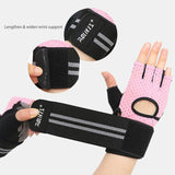 Men Women Anti-slip Fingerless Fitness Gloves Sports Breathable Weight Lifting Gloves With Wrist Support Body Building Gloves-[product_type]-Come4Buy eShop