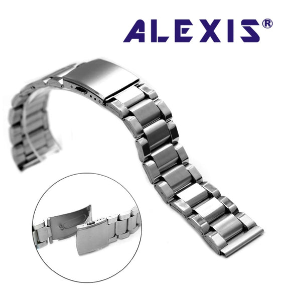 20mm 22mm 24mm Elegant Matt Silver Stainless Steel Men Ladies Watch Band Straps WB1035A