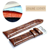 22mm Good Quailty All Leather Unisex Watch Band Straps WB1036-22GB 2.2cm Black Brown Tan Watches Band