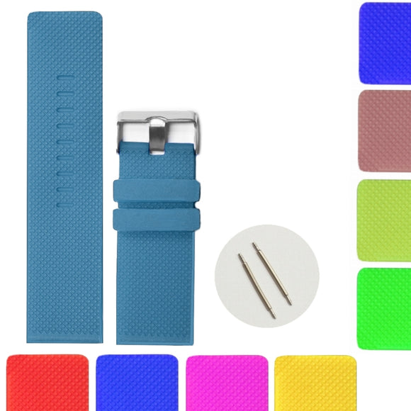 28mm Sweet Chocolate Brown Color Silicone Jelly Rubber Men Women Watch Band Straps Blue Green Purple Pink Red Color Soft Band