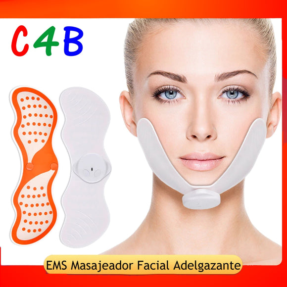 V Face Slimming Exerciser EMS Massager For Face With Gel Pads Skin Lift Tools EMS Face Lifting Machine Facial Muscle Stimulator