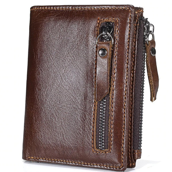 Man zipper Short Coin Purse