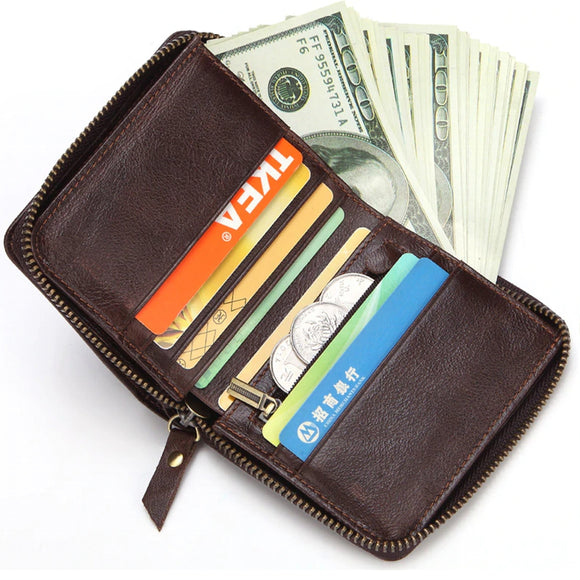 Male Short Purse Card Holder Wallet