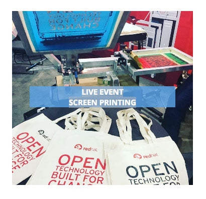 experiential marketing event screen printing
