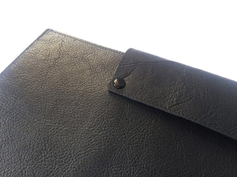 BLACK LEATHER LAPTOP SLEEVE 15""