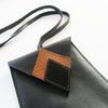 Black Leather Mobile Sleeve w. Neck Strap